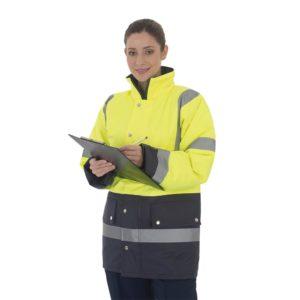 HVP302 2 tone motorway jacket go rt Cressco