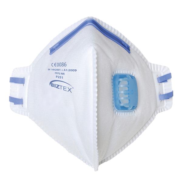 P251 ffp2 valved flat folded disposable respirator box 20 Cressco