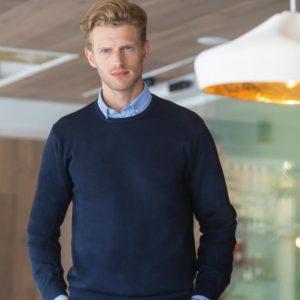 h725 lightweight cotton acrylic crew neck sweater Cressco