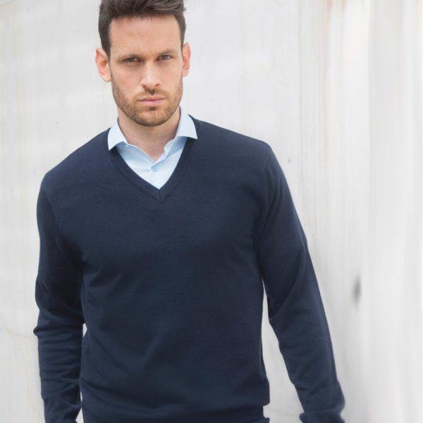 h760 acrylic v neck sweater Cressco