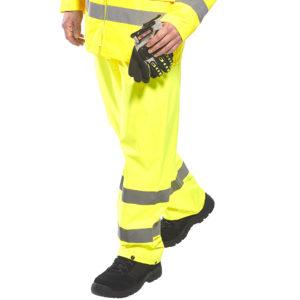 Portwest H441 Hi Vis Rain Trousers Cressco