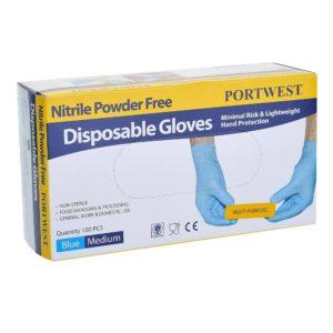 Portwest A925 Powder Free Nitrile Disposable Glove Cressco