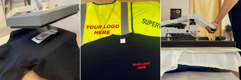 Printed Uniforms Heat Seal Logos