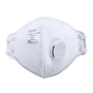Portwest P351 FFP3 Valved Dolomite Fold Flat Respirator White Cressco